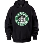 """I Love Guns & Coffee"" Hooded Sweatshirt Sizes SM-4XL"
