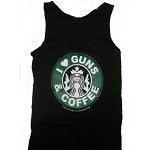 """I Love Guns & Coffee"" Women's Tank Top"